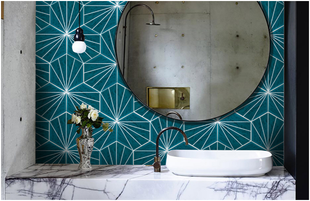 Creating Patterns with Tile Grout